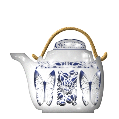 Blue and White Teapot by tutorial