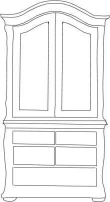Plain clipart of wardrobe.